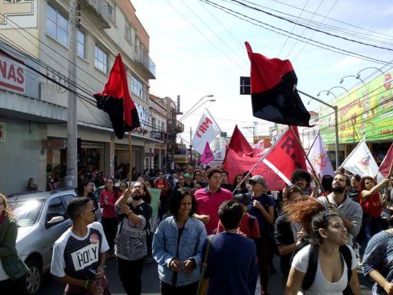 em Marília, com a RP Estudantil, contra o corte nos direitos, 2017